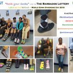 Rock your Socks World Down Syndrome Day 2019 Barbados Lottery collage 1