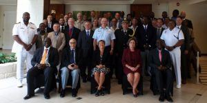 Maritime authorities from Antigua and Barbuda, The Bahamas, Barbados, Bermuda, the Cayman Islands, Dominica, the Dominican Republic, France, Grenada, Guyana, Jamaica, the Netherlands, St. Kitts and Nevis, Saint Lucia, St. Vincent and the Grenadines, Suriname, Trinidad, the United Kingdom, as well as officials from CARICOM, the Caribbean Customs Law Enforcement Council, the Inter-American Drug Abuse Control Commission, the Regional Security System, and the United Nations Office on Drugs and Crime will participate.