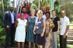 Commonwealth Scholarship Alumni with High Commissioner Janet Douglas, Political Officer Gilly Metzgen, Corey Drakes and Dr Dwayne Devonish