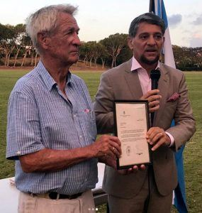 "The Polo Club was full of life and family entertainment, but the highlight of the event was the formal Award Ceremony to pay tribute to Polo pioneer Sir Charles ""COW"" Williams, for his long-standing contribution to the promotion of the Sport."