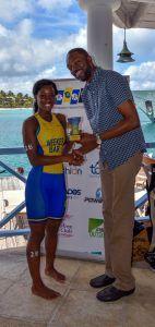 1st place female Ashley Weekes sprint