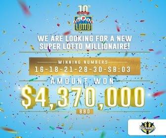 My Barbados Lottery - Super Lotto 336x280