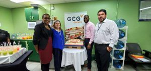 Senior members of the GCG Group and CDS Team from left Sherill Rismay - CDS Human Resources Assistant, Lynda Pantoja – GCG Group Human Resources Manager, Aaron Grant – CDS Acting General Manager, Bruno Barrientos – GCG Ground Handling Division Manager