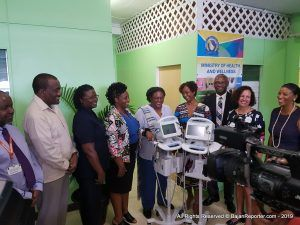 BIBA made a presentation of medical equipment to the Warrens medical facility which included a full dental suite and chair with 3 years maintenance plus fetal monitors and other supplies…