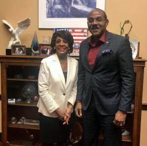 PM Browne and Congresswoman Waters