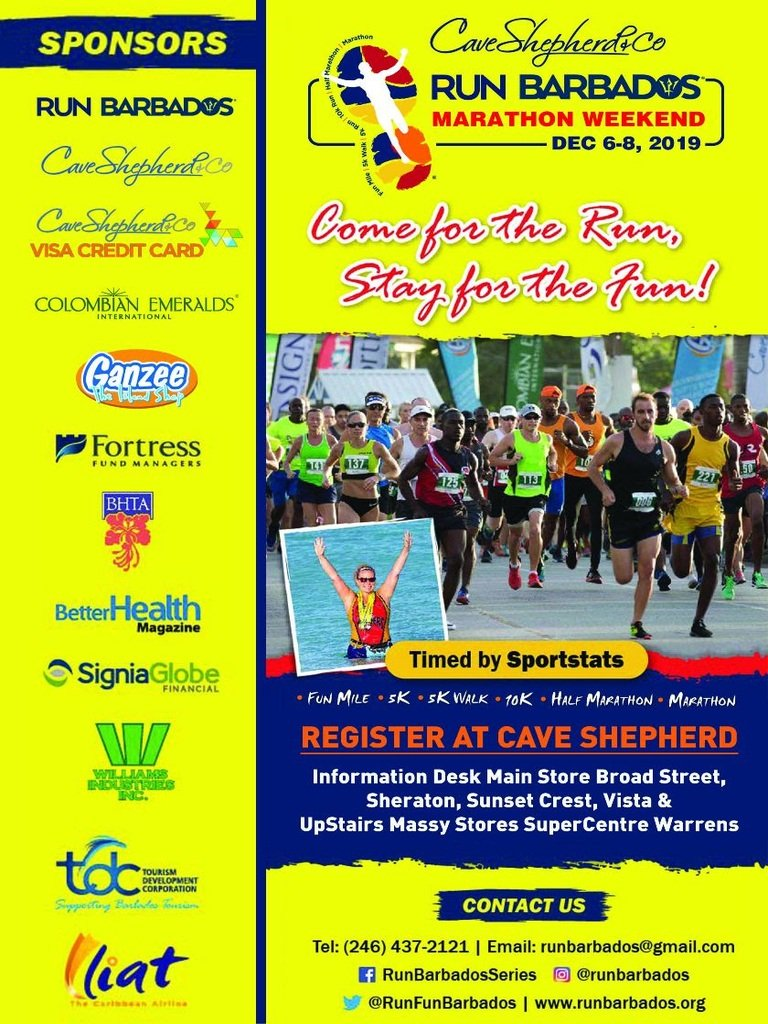 Register Now For Run Barbados 2019