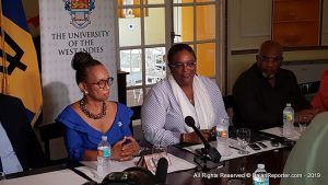 Prime Minister of Barbados Mia Amor Mottley and Principal of the Cave Hill Campus Eudine Barriteau inked the initiative into reality at Ilaro Court recently