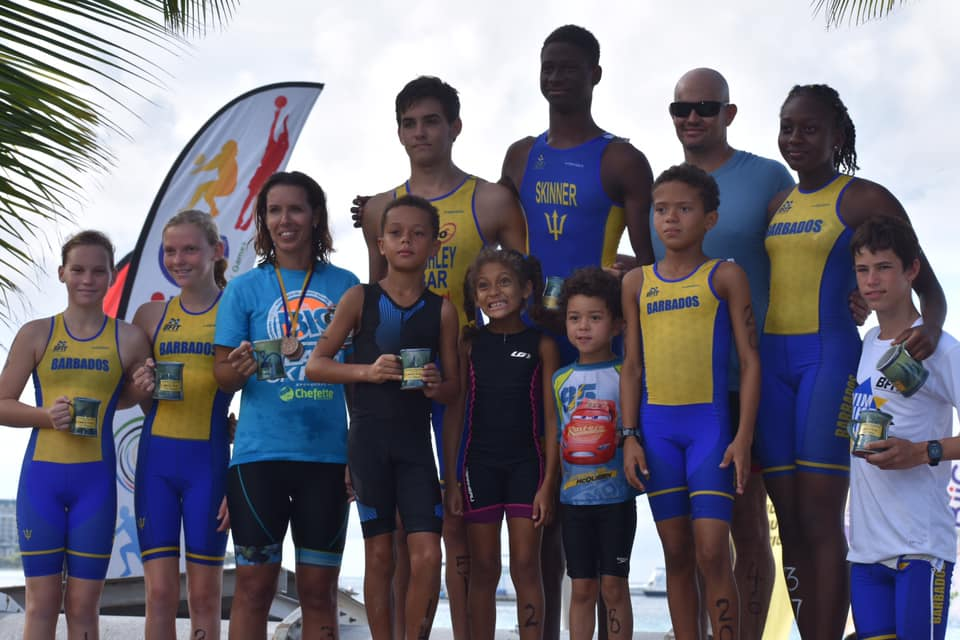 Aquathlon podium finishers