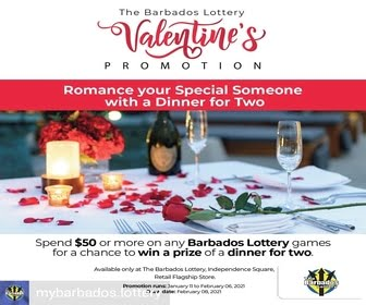 Barbados Lottery 2021 Valentines Day 06 Feb