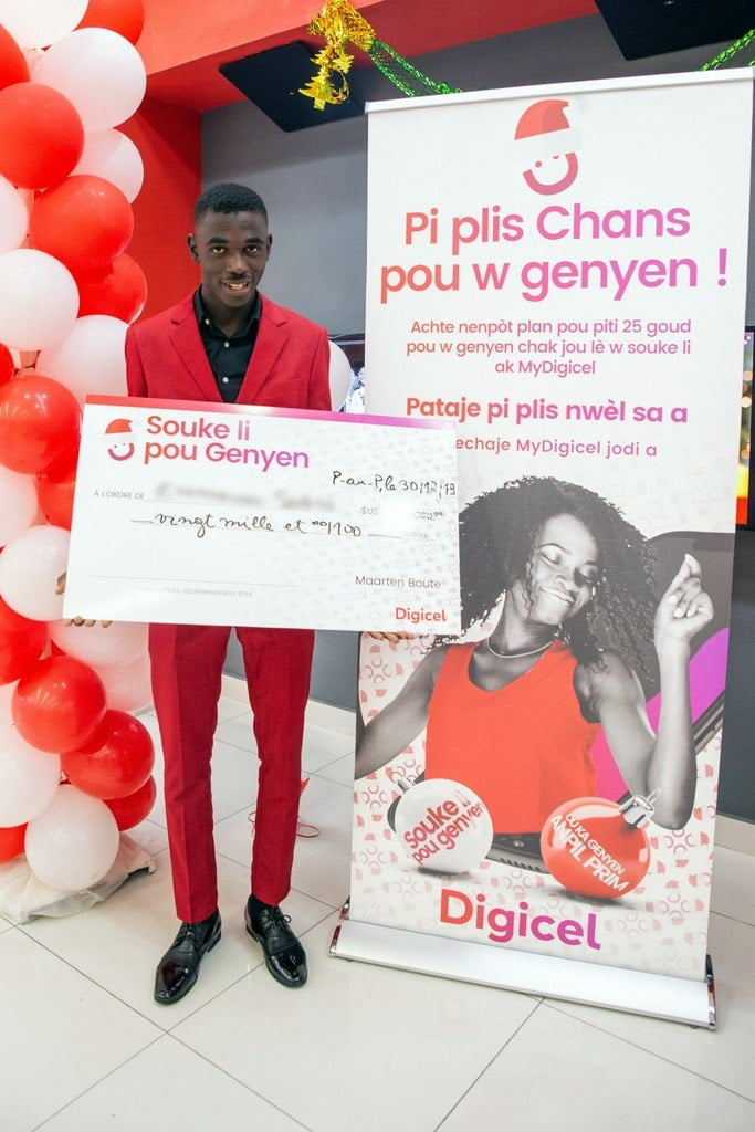 Digicel Christmas Promotion 2020 The Bajan Reporter | Haitian customer wins life changing prize
