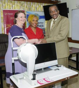 Recently, the QEH's Ophthalmology Department received a <strong>Pentacam Tomography Machine</strong> funded by CIBC FirstCaribbean International Bank on behalf of <strong>Keratoconus Barbados</strong>, a patient support and advocacy group, aimed at promoting awareness as well as raising funds to improve the island's capacity to diagnose and treat the condition.