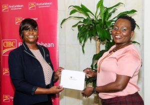 "<strong>Ms. Gotip</strong> said the contribution from CIBC FirstCaribbean ""<em>will allow us to accelerate our day programmes and intensive short term residential programmes. Our non-residential service will also permit others, who are working, to access the services as non-resident clients</em>""."