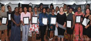 Ambassador Linda Taglialatela and graduates from the AWE Program 2019