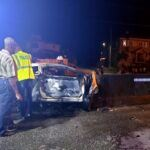 Involved was a single motorcar registration MC1470 a Kia Cerato owned and driven by 25 year old Anthony Brathwaite of Mills Apartments, Piton Road, St. James. He was the sole occupant of the vehicle, and died at the spot.