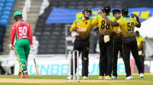 Naveen-ul-Haq showed a deft touch, but debutant Ashmead Nedd couldn't stay with him as he was farcically run out. Naveen tried to hit out but gave mid-off a simple catch to give Brathwaite a third wicket and put the final nail in the coffin - or so it seemed.