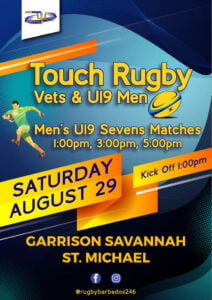 <strong>RUGGERS!</strong> Touch Rugby is back and this time we've added 7's! THIS SATURDAY you can either join us for <strong>TOUCH RUGBY</strong> with the BRFU Vets, grab some drinks while watching the U19 MEN'S 7'S matches or do both! The choice is yours but we'll see you there!