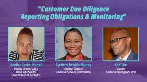 """Registration for the virtual event is free and open to the public. The session, which will be hosted jointly by the Central Bank of Barbados and the Financial Services Commission, is dubbed """"<strong>Customer Due Diligence, Reporting Obligations, and Monitoring</strong>."""""""