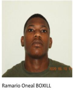 2. <strong>Ramario O'Neal Boxill </strong>24 years, of 3rd Avenue Spring Garden, St. Michael who is charged that he at the parish of Saint Michael within the jurisdiction of the Magistrate of District 'A' on the 9th day of August 2020 committed the following offences: