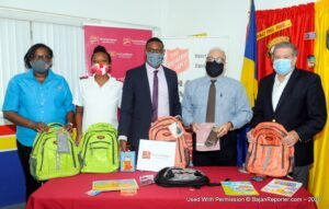 From left: : From left: Salvation Army's Advisory Board Chairman, Paul Bernstein, Managing Director of Abed's, Eddy Abed; CIBC FirstCaribbean International Bank's Business Development Manager- International Corporate Banking and Wealth Management, Raymond Ward; Salvation Army's Division Youth and Candidate Secretary, Captain Monesha Broome and the Army's Divisional Board Manager and Public Relations Officer, Sherma Evelyn.