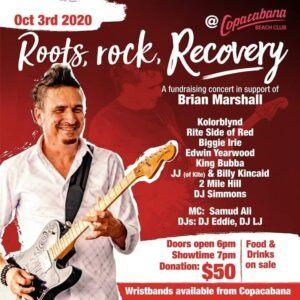 Brian Marshall - laid low by Haemorrhagic Stroke