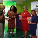 "L-R Mr Adisa ""AJA"" Andwele, Mrs Carol Roberts-Reifer, CEO, National Culture Foundation, Mrs Sandra Griffith-Carrington, Open Campus Officer of Alumni Relations and Miss Nathalie Wiltshire, Alumni Assistant."