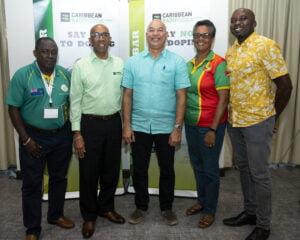 Caribbean RADO Executive from L to R - Director, Ephraim Penn (British Virgin Islands); Vice Chairman, Dr. Adrian Lorde; Chairman, Patrick Werleman; Director, Dr Karen Pilgrim; and Director, Joel Johnson (Grenada)