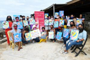 The now annual event took the form of a brunch at the restaurant on the picturesque site in the north of the island with <strong>Yasmin Vizcarrondo</strong> of the Paint and Groove Studio. She led the painters in the creation of their masterpieces, which this year featured a dragonfly.