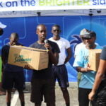 4 Barbados Fire Service presents the Red FOundation with a donation