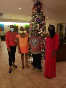 From left KELLY-ANN PAYNE, GENERAL MANAGER COURTYARD BY MARRIOTT BRIDGETOWN; Mrs. Donnah Russell- Deputy Secretary General BANGO; Dr. Marcia Brandon – Secretary General- BANGO and Ms. Allison Gotip, Primary Coordinator, Volunteer & Outreach Coordinator of The Substance Abuse Foundation Inc.