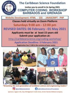The Workshop dates have changed and the Workshop will now run from February 6, 2021 to May 1, 2021. The new application deadline is Wednesday February 3, 2021.