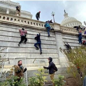 These thugs breached the US Capitol, according to police officers who took selfies with disrespectful protestors, as lawmakers hid before they counted the Electoral College votes certifying President-elect Joe Biden's win.