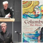 Charles Matz reading from Columbus, the Moor at The Cooper Union exhibit of Caribbean art and poetry, 2019. (Credit: M. Matz.)