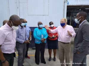 Minister Humphrey was speaking after touring BICO Limited's ice cream plant and cold storage facility at Harbour Road. He was accompanied by BICO's new Chief Executive Officer,<strong> Glen Stuart</strong>, and other members of the management team, and officials from the Barbados Port Inc. and the Ministry, including Permanent Secretary,<strong> Sonia Foster</strong>.