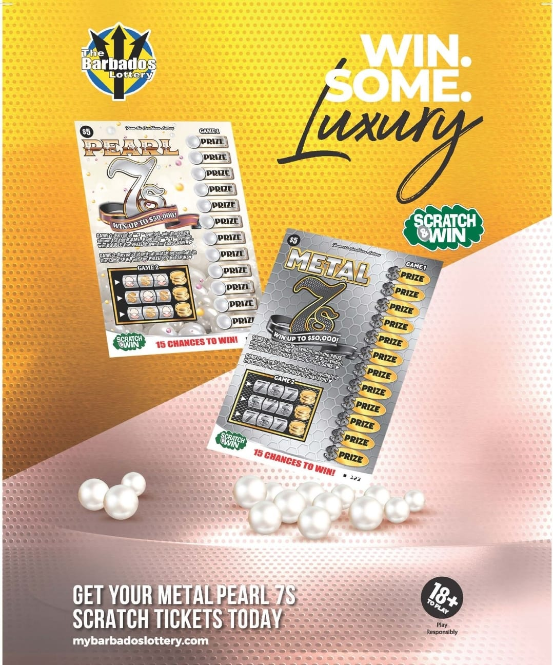"With the tagline ""Win Some Luxury,"" the quick prizes potentially offer a chance to grab some opportunity and comfort in what has been a challenging year for many. When players purchase a ticket, they will see the Metal or Pearl sides of the game alternatively stacked in the bins at the cashier. For just $5, a player can potentially net a high amount of prizes from one ticket, and with retailers being able to cash up to BDS$750 per ticket, each player can benefit from some quick and easy wins on the spot."