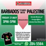 CAAP will be making a stand for Palestine in protest on Friday May 21st, 2021 at 3pm outside the Ministry of Foreign Affairs, Culloden Road.