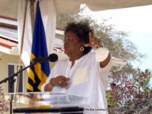 Prime Minister Mia Amor Mottley said the country had made yet another stride forward with the opening of the new Pile Bay Fish Landing Facility yesterday.
