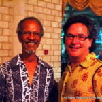 The product of a Guyanese mother and Barbadian father, Clairmonte (at left with Drew McKenzie) established an unbreakable bond with Barbados well over a half-century ago, visiting with some frequency to take part in theatre productions, in the process building a life-long relationship with the legendary Earl Warner and eventually settling here.