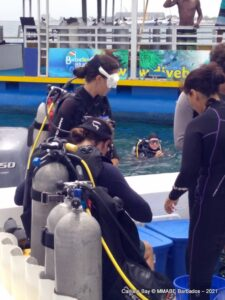 """Mr. Miller explained that the team included junior marine biologists, paying guests and fishermen. """"<em>We had 14 divers and everyone planted two corals which will be monitored over the next two years. We will track them</em> (<strong>and</strong>) <em>once all goes well, we can continue to grow. We are witnessing history to see coral nurseries reach the south coast</em>,"""" he stated."""