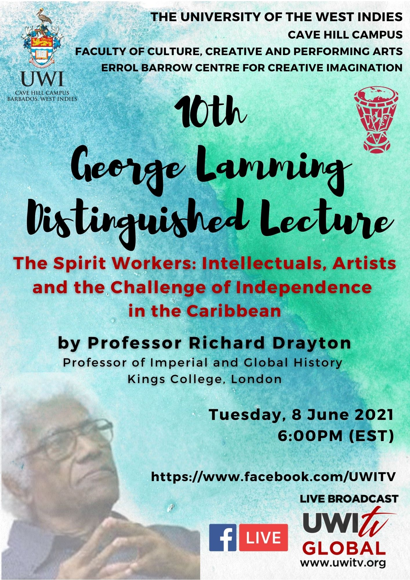 Prof Richard Drayton lecture - Virtual (EBCCI)
